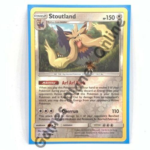 176//236 Pokemon RARE Card SM12 COSMIC ECLIPSE STOUTLAND REVERSE HOLO