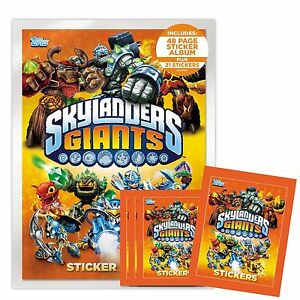 Topps Skylanders Giants Starter Pack Sticker Collection - Choose your item