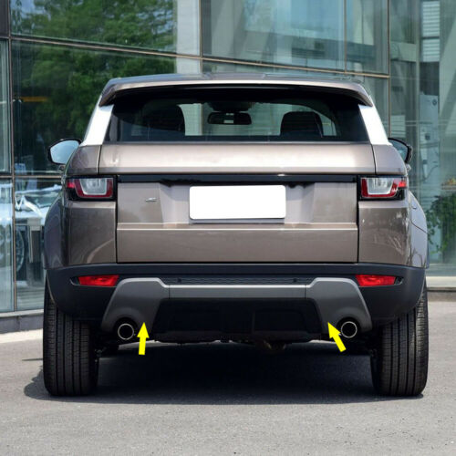 Pair Rear Exhaust Pipe Towing Hook Cover Trim Fit For Range Rover Evoque 2012-18