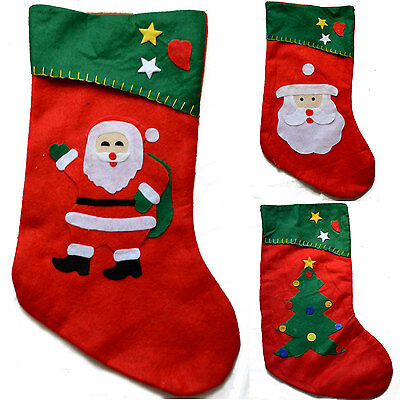Christmas Gift Santa Claus Snowman Toy Stockings Hanging Socks Xmas Tree Decor Ebay