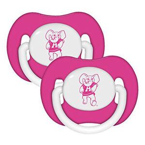 College-ncaa Alabama Crimson Tide Pacifiers 2 Pack Set Infant Baby Fanatic Bpa Free Ncaa Sports Mem, Cards & Fan Shop
