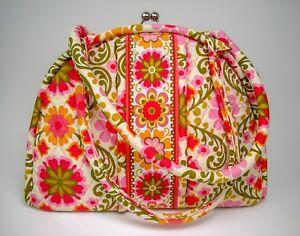 Vera-Bradley-Eloise-ENGLISH-ROSE-Satchel-Purse-Kiss-Lock-Handbag