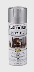 rust oleum stops rust silver metallic spray paint indoor