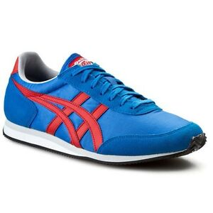 ASICS Onitsuka Tiger II Mid Blu/Rosso Infuocato D2D1N