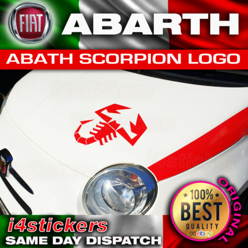 1 X FIAT 500 ABARTH SCORPION LARGE STICKER DECAL GRAPHIC