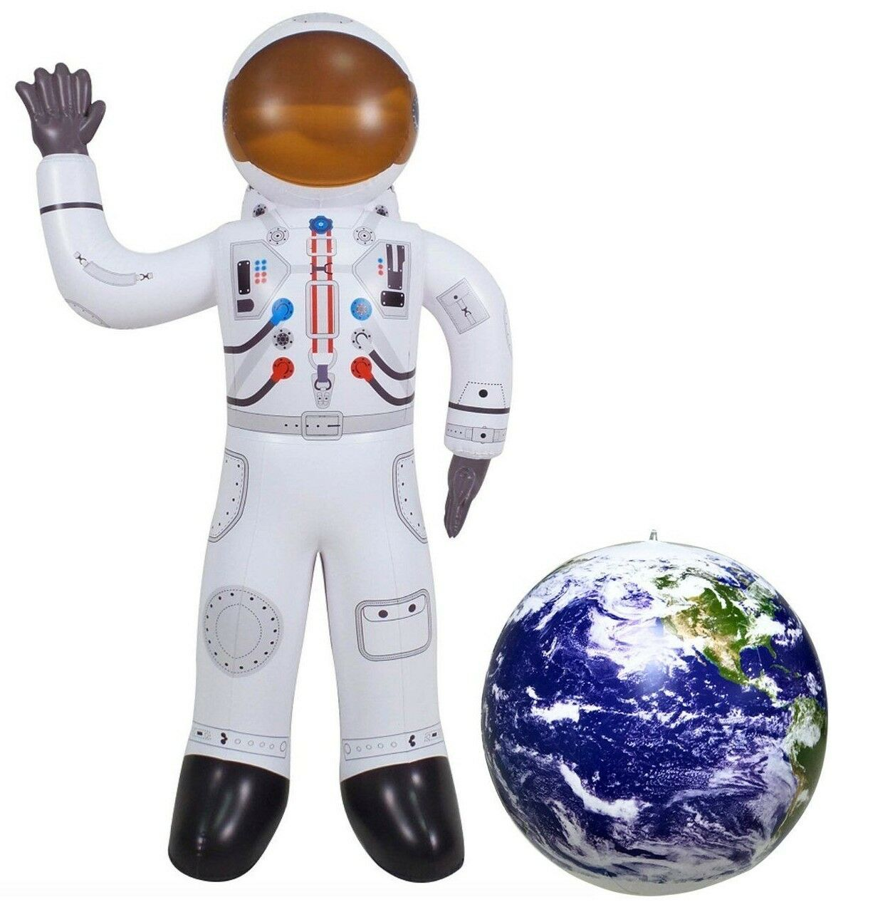 Inflatable Astronaut Figure Space Planet NASA 2 PC Set Gift Toy Birthday Party