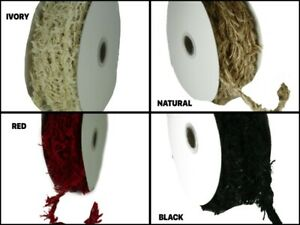 8MM Wired & Fuzzy Frayed Rustic Rope Trim 10 Yards Choose Color