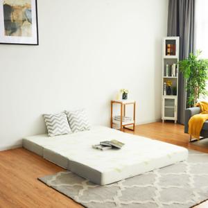"6"" Full Size Tri-Folding Memory Mattress Sofa Bed Guests Floor Mat W/ Carry Bag"