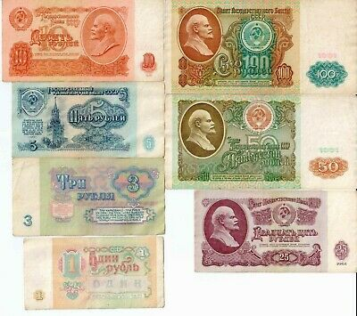 91 3 roubles 1961 100 banknotes in bank package bundle Russia USSR