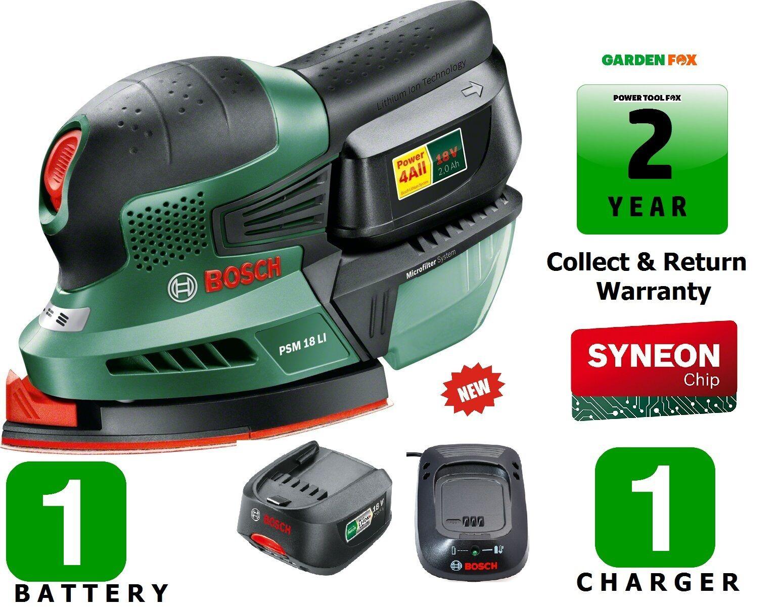Savers Bosch PSM18Li Cordless SANDER - 06033A1372 3165140740036 D