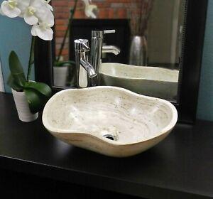 Bathroom Vessel Sink Travertine Marble Stone