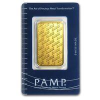 1 oz Gold Bar - Pamp Suisse New Design in Assay
