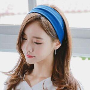 Retro-Elastic-Cotton-Women-Girl-Plain-Color-Head-Wrap-Headband-Yoga-Hair-Band-r