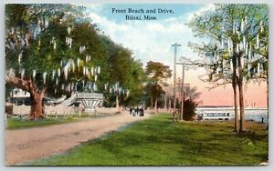 Biloxi-Mississippi-Fancy-Bandstand-Near-Front-Beach-amp-Drive-Spanish-Moss-c1910