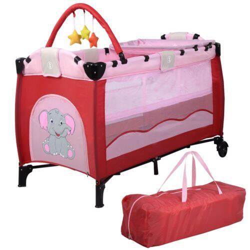 US Baby Crib Playpen Playard Pack Travel Infant Bassinet Bed Foldable 4 colors