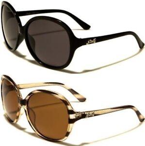Groß Polarisiert Wrap Sonnenbrille Groß Oval Designer Retro Schmetterling Damen