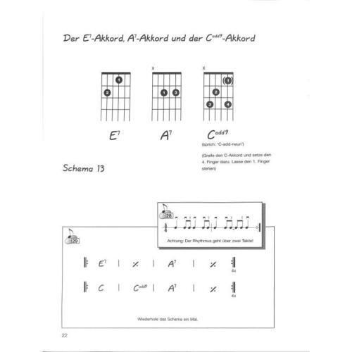 Rhythmus Gitarre 1 Schule für akustische und elektrische Gitarre Noten