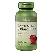 10xNEW GNC Herbal Plus® Grape Seed Extract 300MG  Anti-oxidant support EXp08/19
