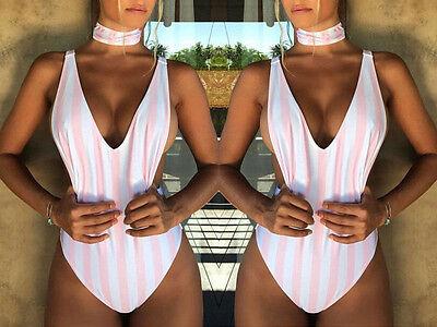 NEW Women Padded Push-up Bikini Set Beach Swimsuit Monokini Swimwear Chocker Top