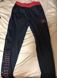 9601019b03dc Nike Jordan Retro XI 11 Pants Rip Snap Tear-Away Black Red Bred ...
