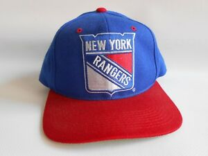 Image is loading Vintage-New-York-Rangers-Snapback-Hat-Genuine-NHL- bc5eebd34581
