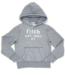 5ed2fddd990c Abercrombie   Fitch Kids Boys Muscle Logo Pullover Hoodie Gray ...