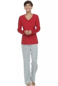 Croft-amp-Barrow-Women-039-s-2-Piece-Knit-Christmas-Pajama-Set-Size-Large-NWT-40