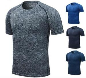 Mens-Compression-short-Sleeve-Sports-Running-Shirt-Fitness-quickly-dry-T-shirt