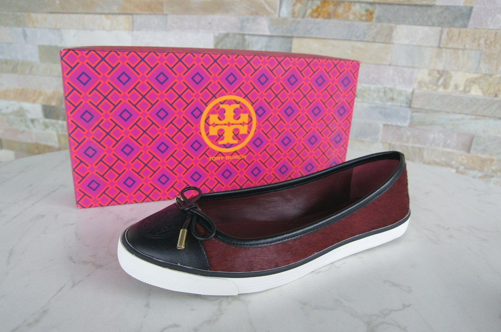 TORY BURCH Slipper Gr 37 7 Ballerinas Slipper BURCH Sneakers Schuhe schuhe Bordeaux NEU 45a8a4