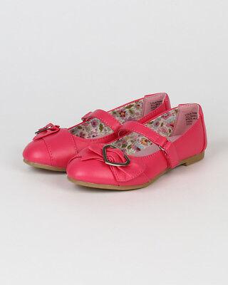 Little Angel Lola-769E New Girl Heart Decor Strap Ballet Flat Sandal Size