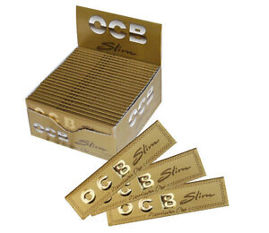 OCB-GOLD-Slim-Premium-One-King-Size-Rolling-Smoking-Papers-Skins-Rizla-Genuine