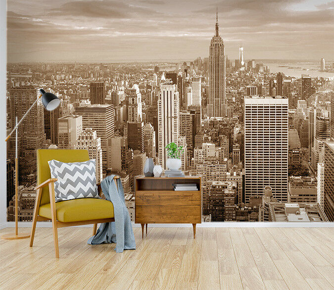 3D braun City 755 Wall Paper Print Wall Decal Deco Indoor Wall Murals US Summer