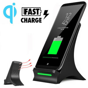 For-Samsung-Note-8-S8-Charging-Pad-Stand-Dock-with-Fan-Fast-Qi-Wireless-Charger