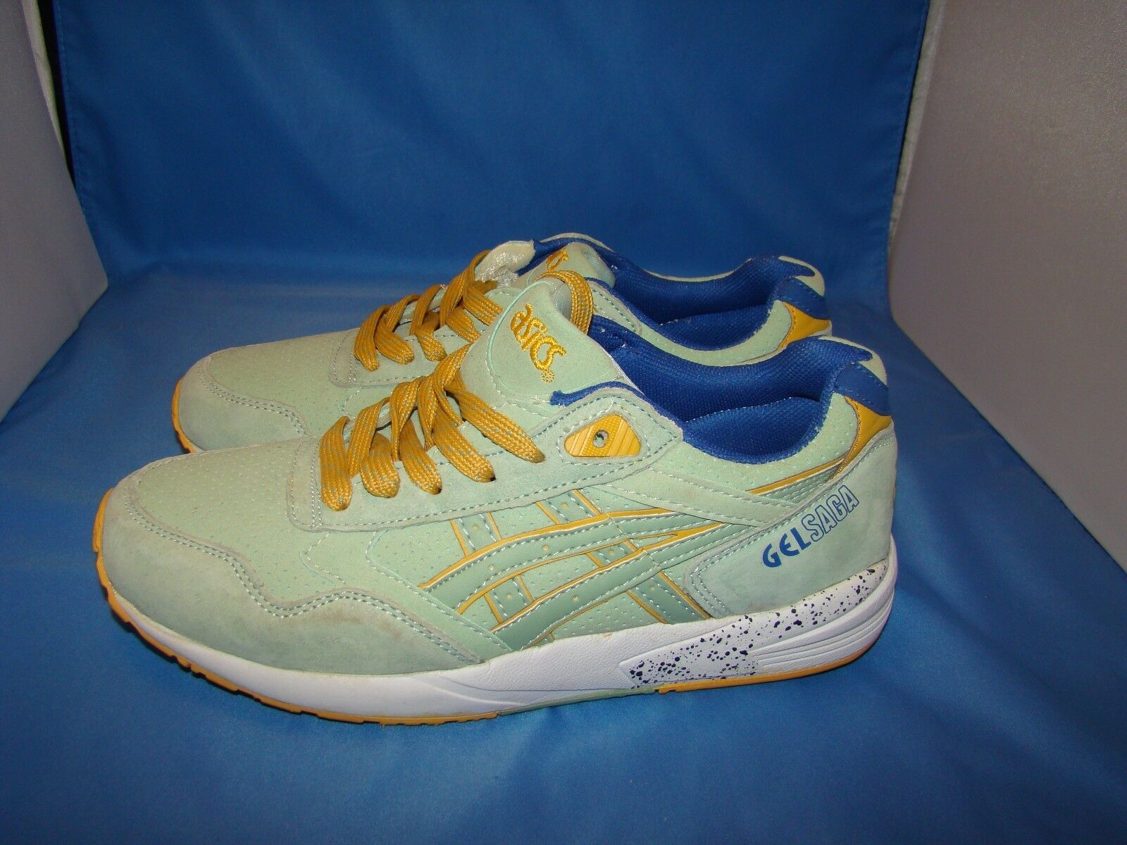 hommes Asics H6A8L Gel Saga Athletic Chaussures Size-7 Smoke Green