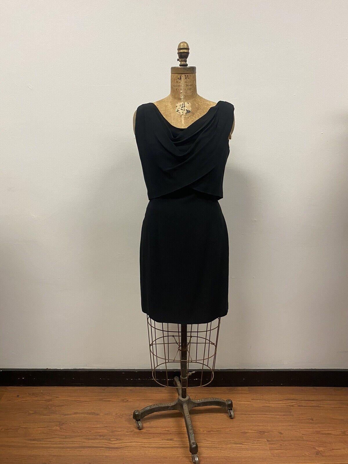 Vintage 1950's SUZY PERETTE Black Cocktail Dress,… - image 1
