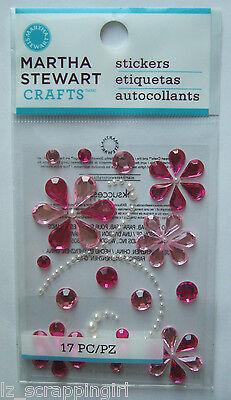 ~PINK ELEGANT SCROLL GEMSTONES~ Stickers Martha Stewart Crafts; GIRLS, Wedding