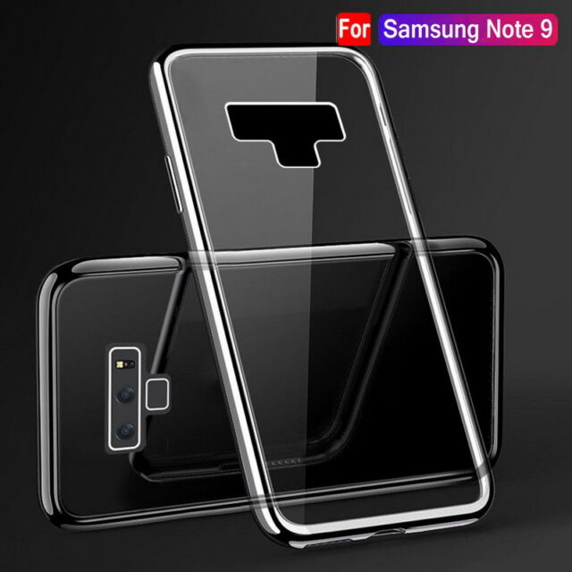 For Samsung Galaxy Note9 S9 S8 Plus S6 Clear TPU Case Silicone Shockproof Cover