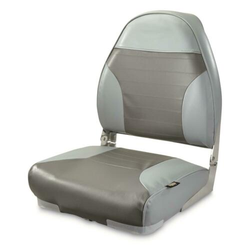 Boat Seat High Back Chair Fold Down Marine Grade Folding Pontoon Boating Fishing