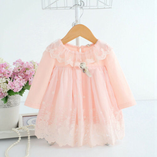 Newborn Baby Girls Cartoon Lace Tulle Party Princess Dress Outfits Kids Clothes