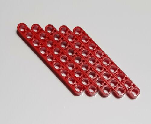 5x LEGO Technic liftarm 1 x 9 larga rosso tecnica 40490 1x9 4192225 4645733