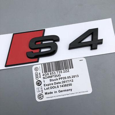 """Matte Black /"""" S 4 /"""" Metal Number Letters Trunk Emblem Badge Sticker For Audi S4"""