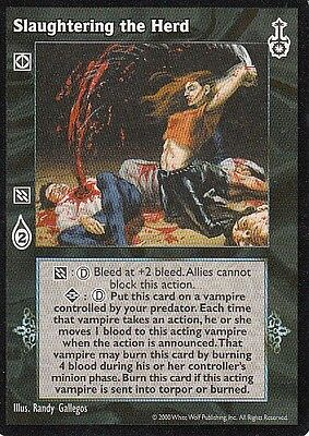 8 x Slaughtering the Herd VTES CCG Mixed
