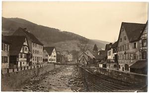 Allemagne-Hornberg-Black-Forest-vue-sur-le-village-Vintage-albumen-print