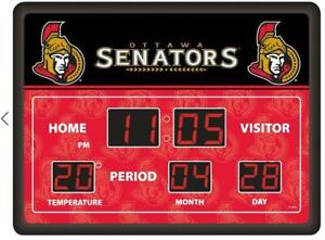 Ottawa Senators Large Deluxe LED Scoreboard Clock (New) Canada Preview