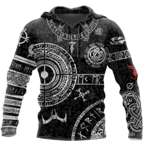 2 Style Viking Odin Tattoo 3D Printed Men hoodies Harajuku Fashion Hooded