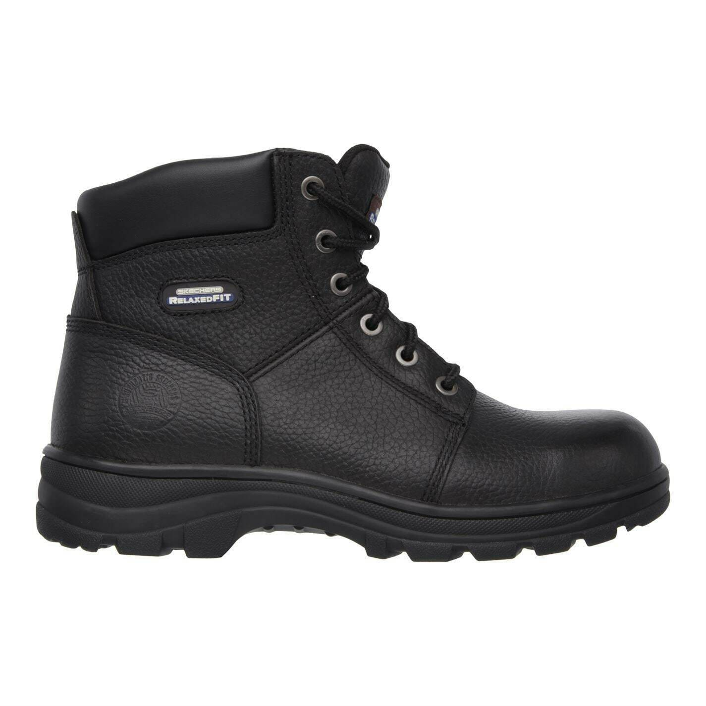 Skechers Mens Work Workshire Safety Boots Lace Up Leather Upper Memory Foam