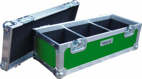 "Green Rigid PVC 7/"" Single 300 Swan Flight Case Vinyl Record Box"