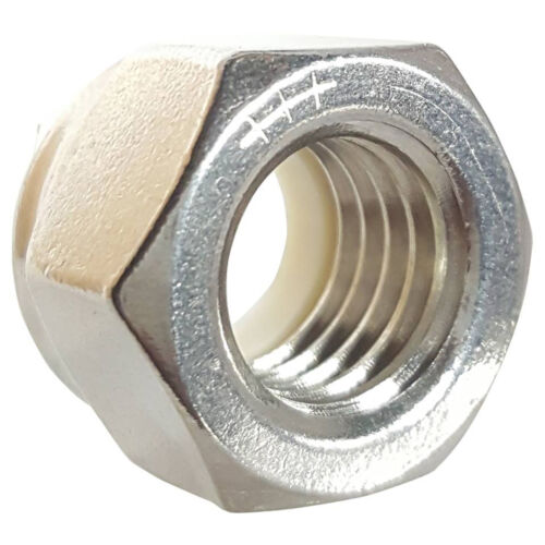 8-32 Nylon Lock Nut Stainless Steel 18-8 Elastic Insert Hex Nuts Qty 500