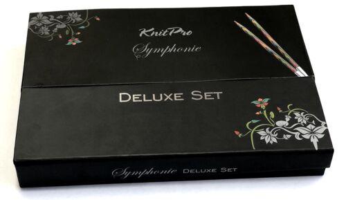 contenu comme 20613 Knitpro Symphonie Bois Deluxe Set Dans Super Box Art 20693