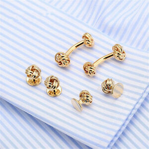 Silver and Gold tone knot Cufflinks
